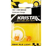 KRISTALL 12V 1,12W Armaturenlampe orange