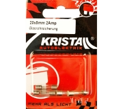 KRISTALL Glassicherung (20mm x 5mm) 2 Amp