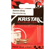 KRISTALL Glassicherung (20mm x 5mm) 4 Amp