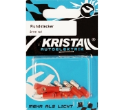 KRISTALL Rundstecker rot (4mm)