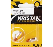 KRISTALL 12V 5W Glassockellampe MAGIC  LIGHT