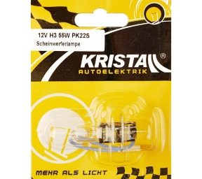 KRISTALL 12V Autolampe H3 (55W)