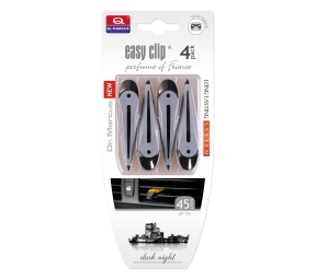 EASY CLIP grau, Dark Night Duft (4 Stk)