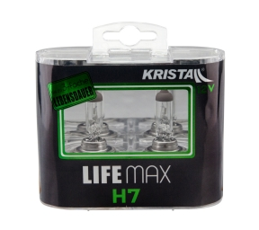 KRISTALL Lampe 12V H7 55W Life Max